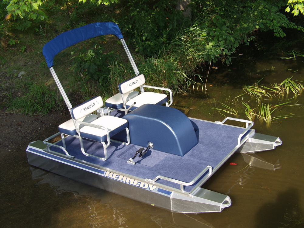 Kennedy Pontoons Paddle Boats Compact Electric Pontoons